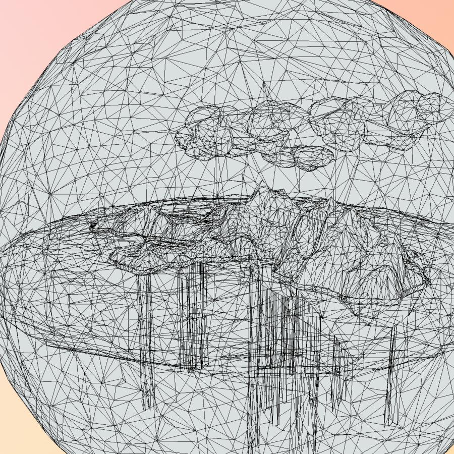 χαμηλό πολυγώνιο τέχνη άμμο καταρράκτη νησί βουνό 3d μοντέλο 3ds max fbx ma mb tga targa icb vda vst pix obj 269824
