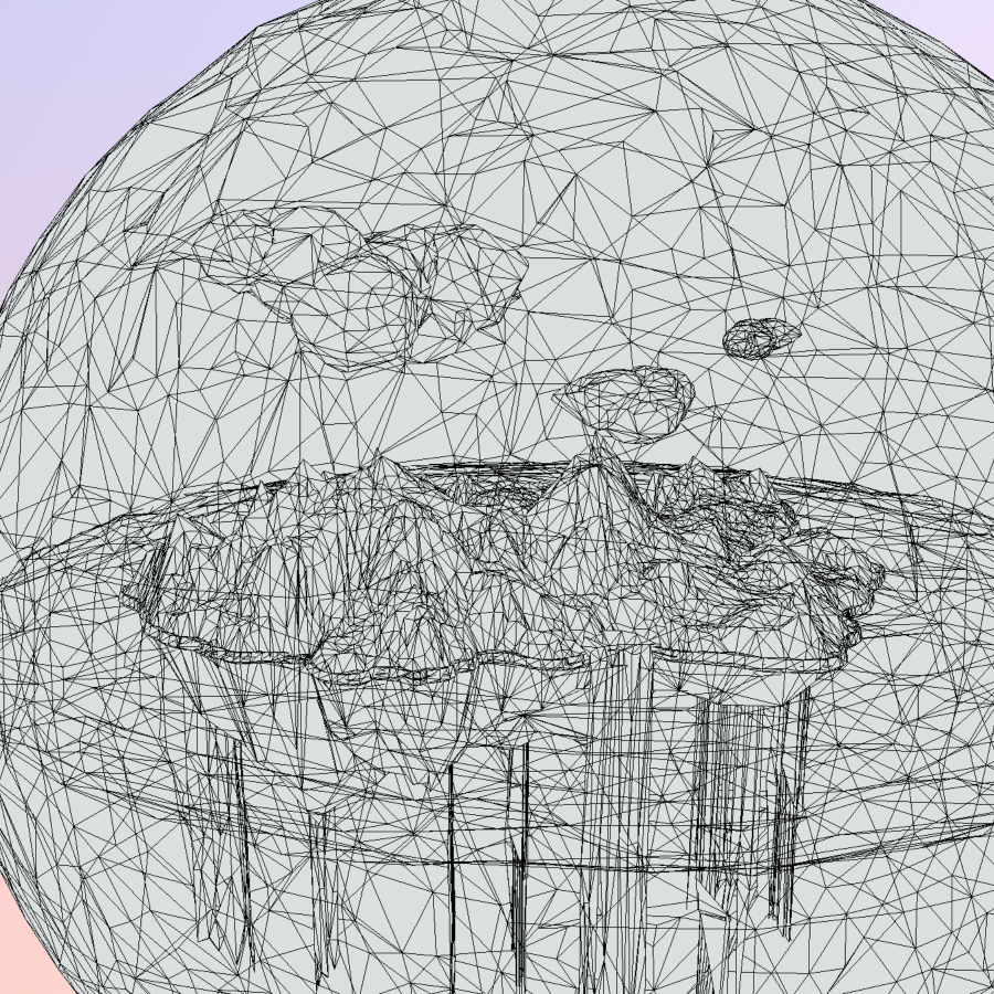 χαμηλό πολυγώνιο τέχνη άμμο καταρράκτη νησί βουνό 3d μοντέλο 3ds max fbx ma mb tga targa icb vda vst pix obj 269825