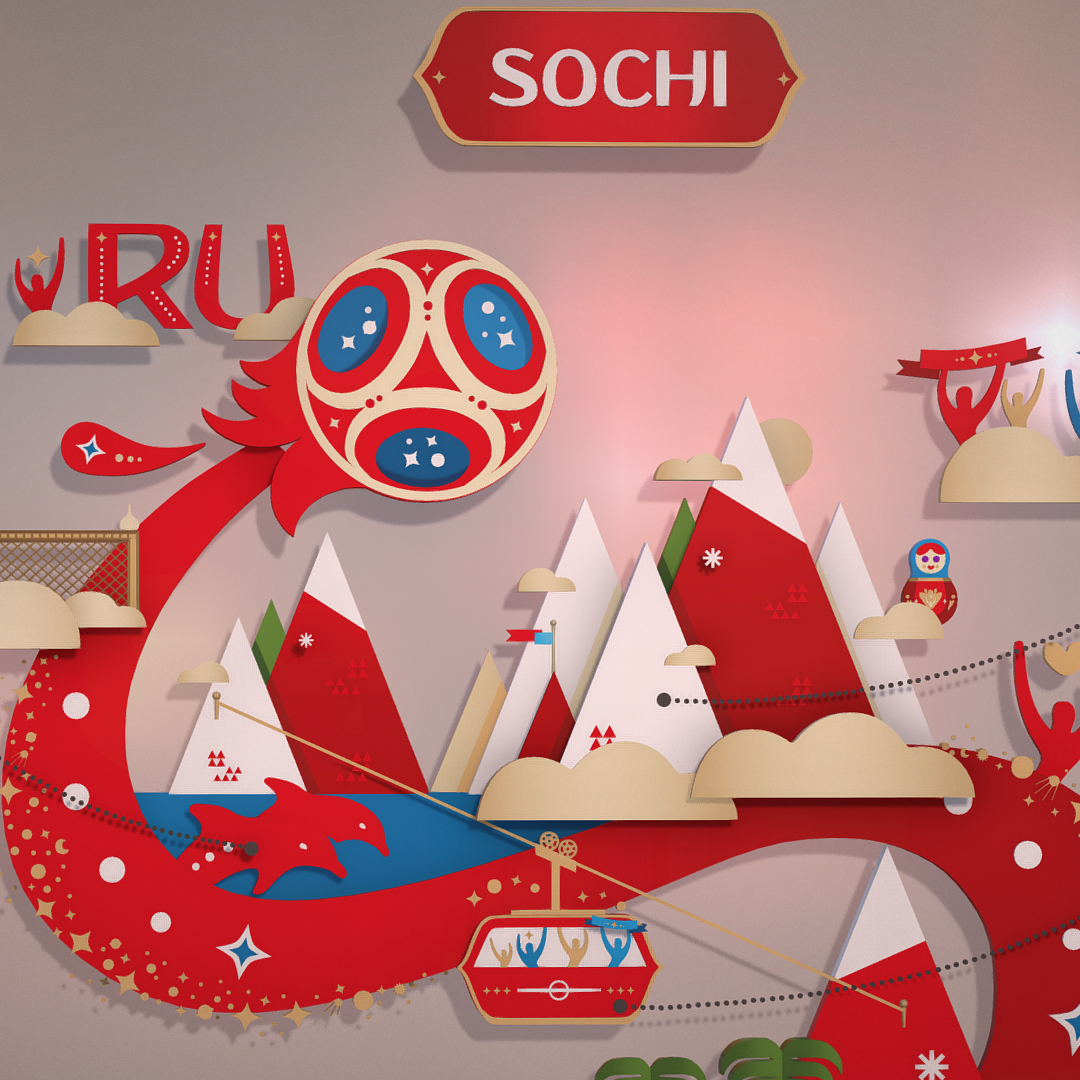 official world cup 2018 russia host city sochi 3d model max fbx ma mb psd 3dm texture obj 269854
