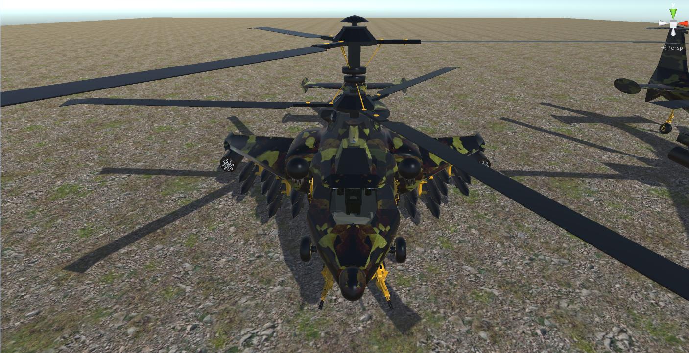 fantasy military helicopter 3d model fbx 269869