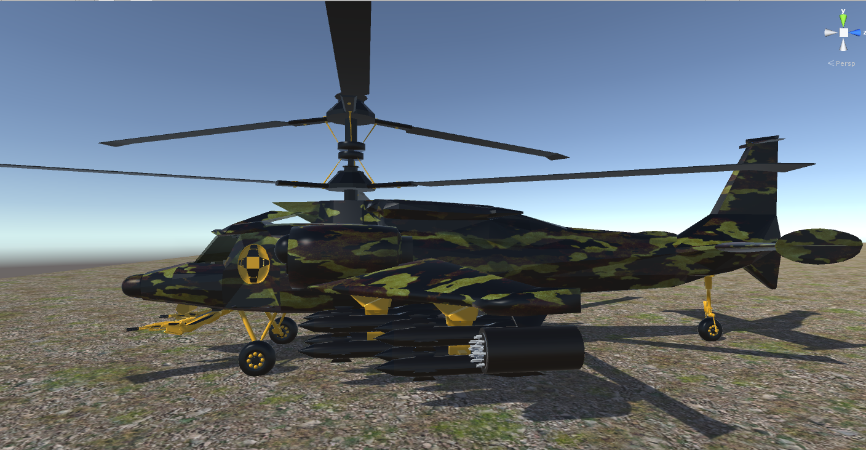 fantasy military helicopter 3d model fbx 269871