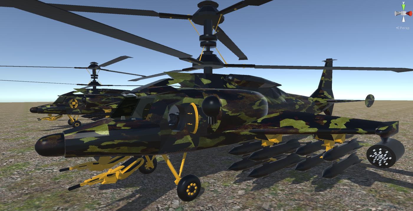 fantasy military helicopter 3d model fbx 269872