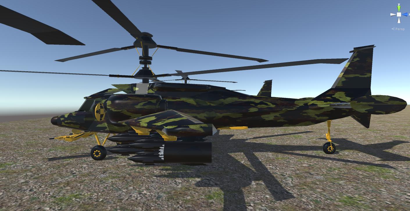 fantasy military helicopter 3d model fbx 269873
