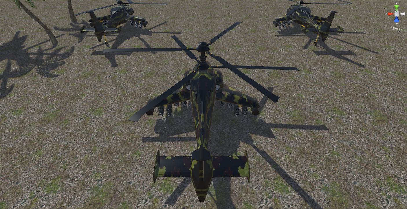 fantasy military helicopter 3d model fbx 269875