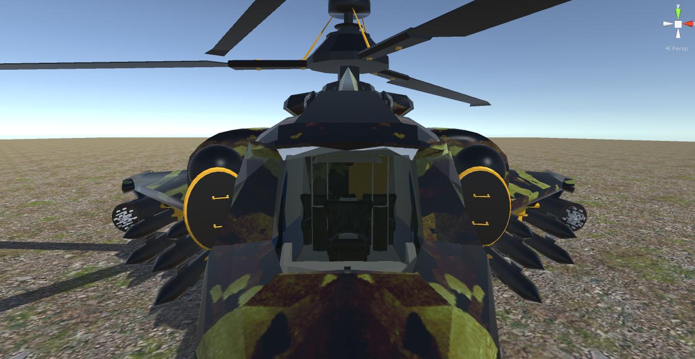 fantasy military helicopter 3d model fbx 269878