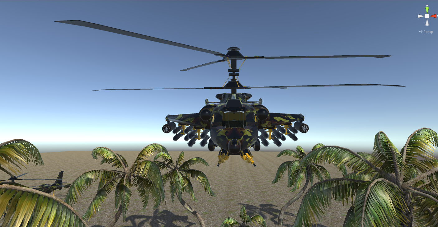 fantasy military helicopter 3d model fbx 269879