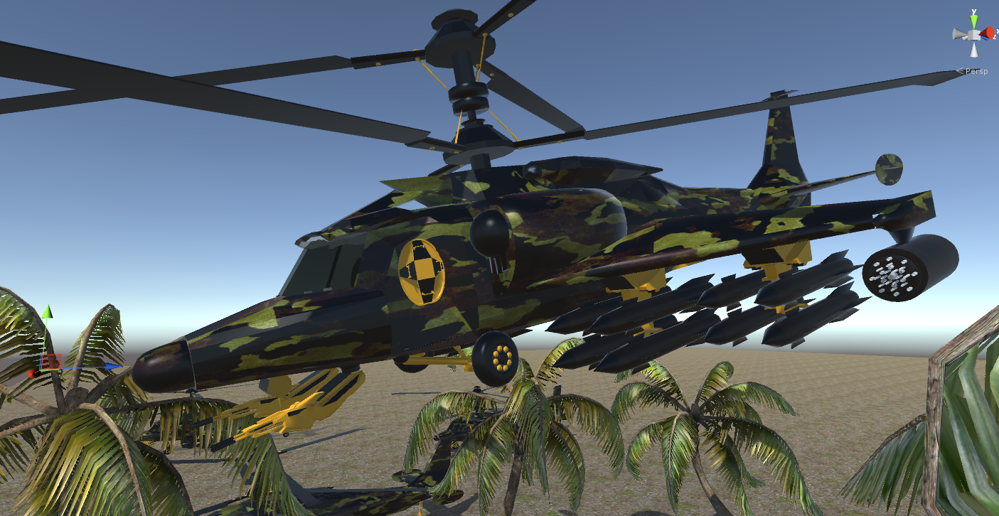 fantasy military helicopter 3d model fbx 269880