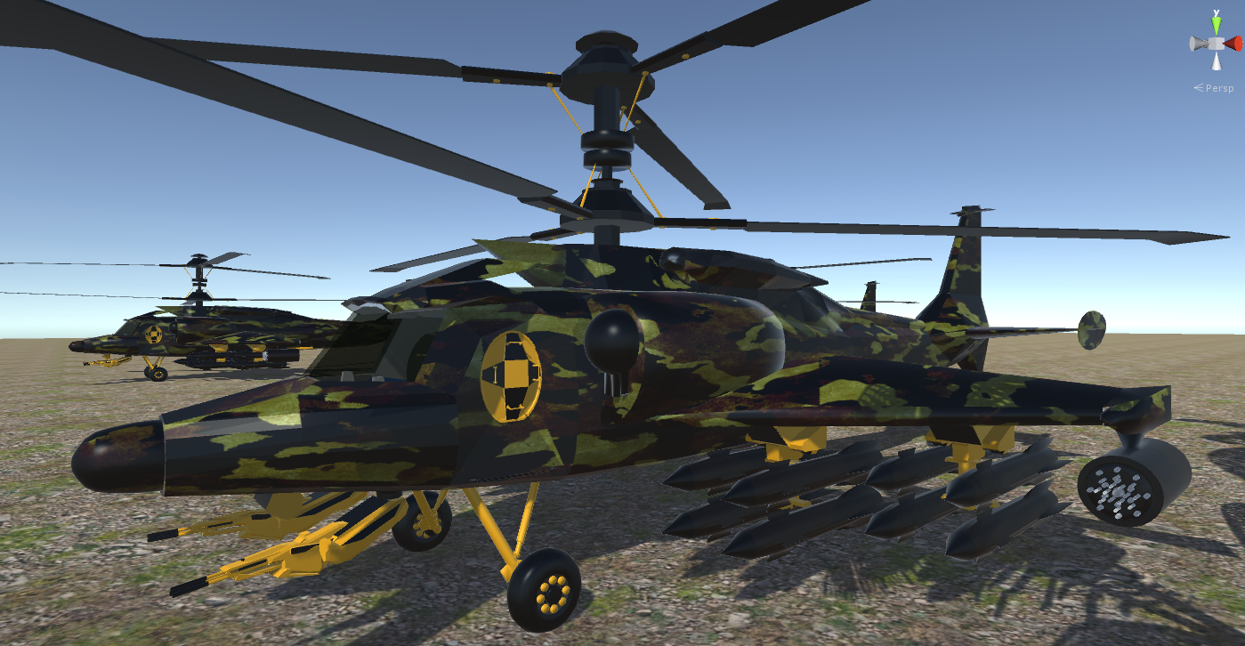 fantasy military helicopter 3d model fbx 269882
