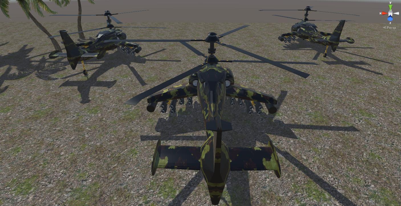 fantasy military helicopter 3d model fbx 269883