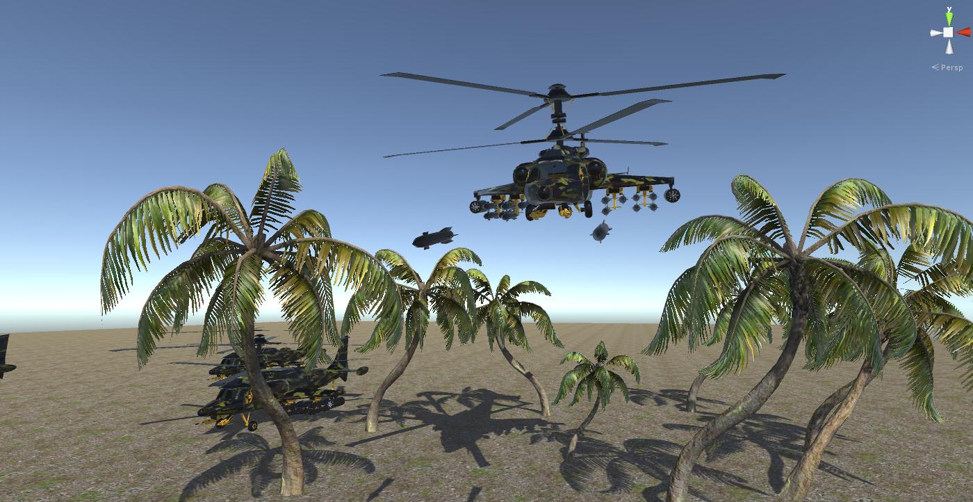 fantasy military helicopter 3d model fbx 269884