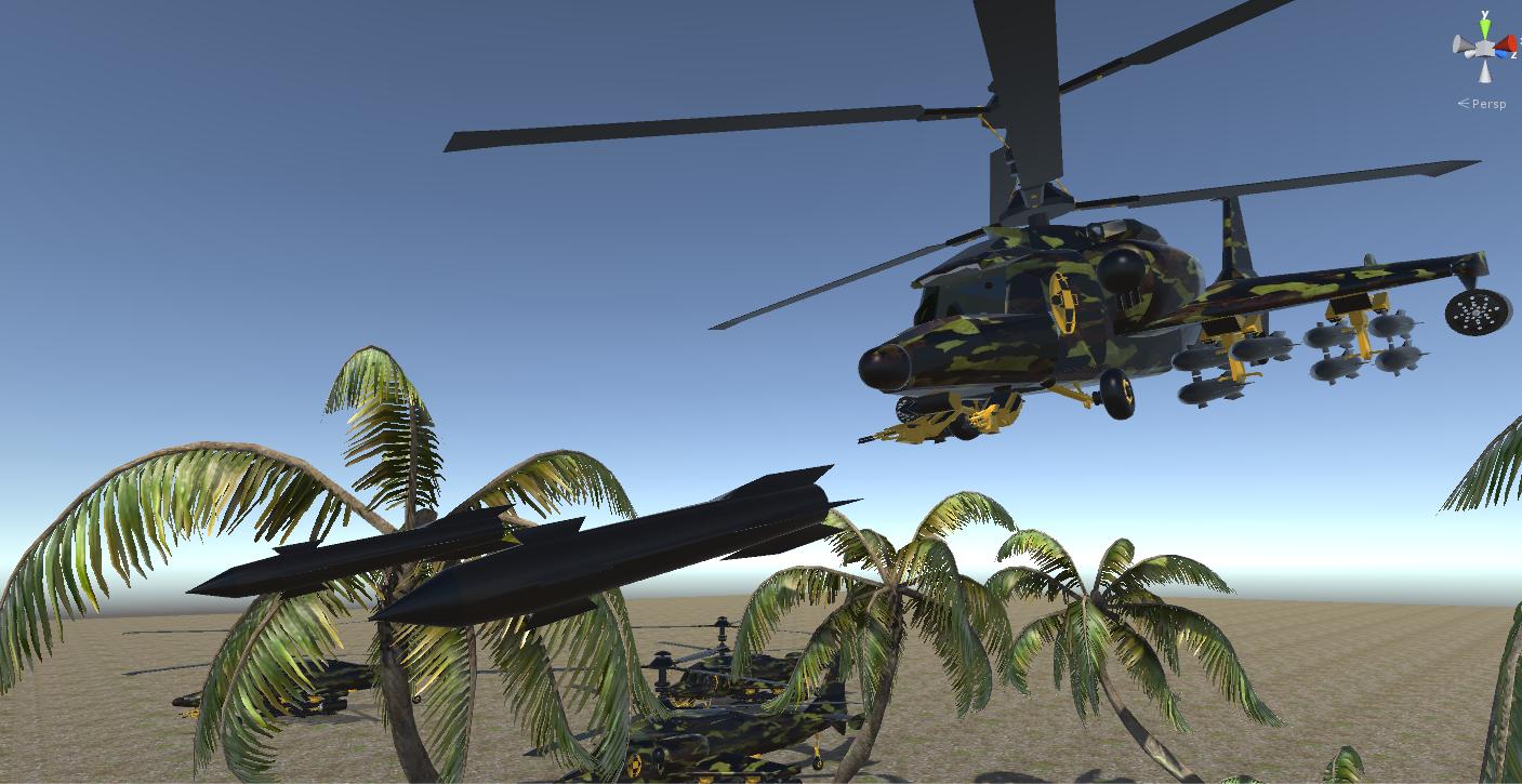 fantasy military helicopter 3d model fbx 269885