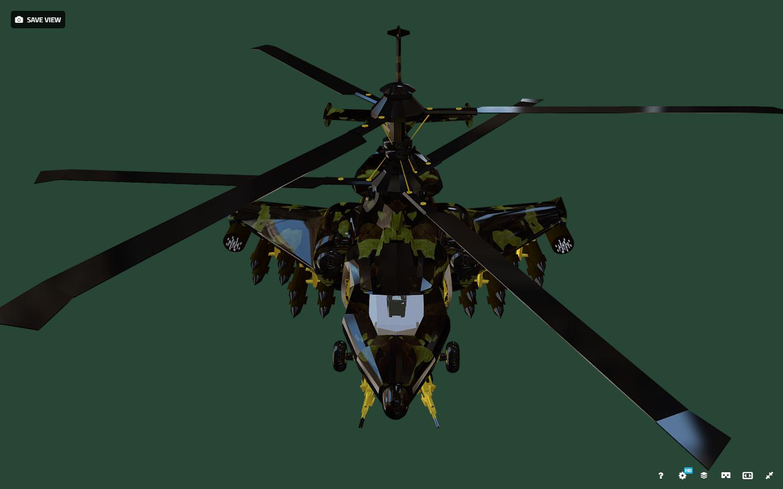 fantasy military helicopter 3d model fbx 269890