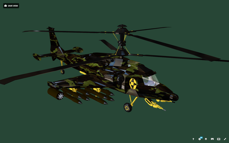 fantasy military helicopter 3d model fbx 269891