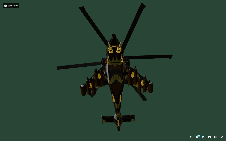 fantasy military helicopter 3d model fbx 269892
