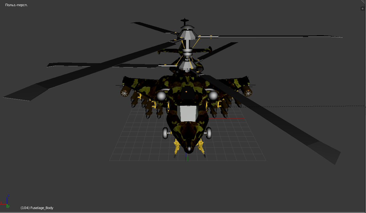 fantasy military helicopter 3d model fbx 269893
