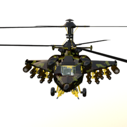 Fantasy Military Helicopter - Battle Tyrannosaurus 3d model 0