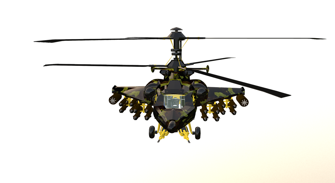 fantasy military helicopter 3d model fbx 269894