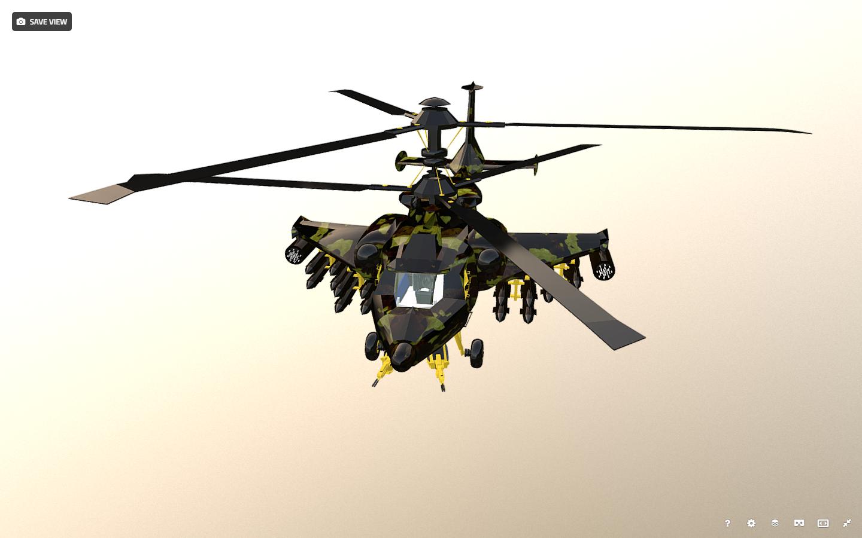 fantasy military helicopter 3d model fbx 269895