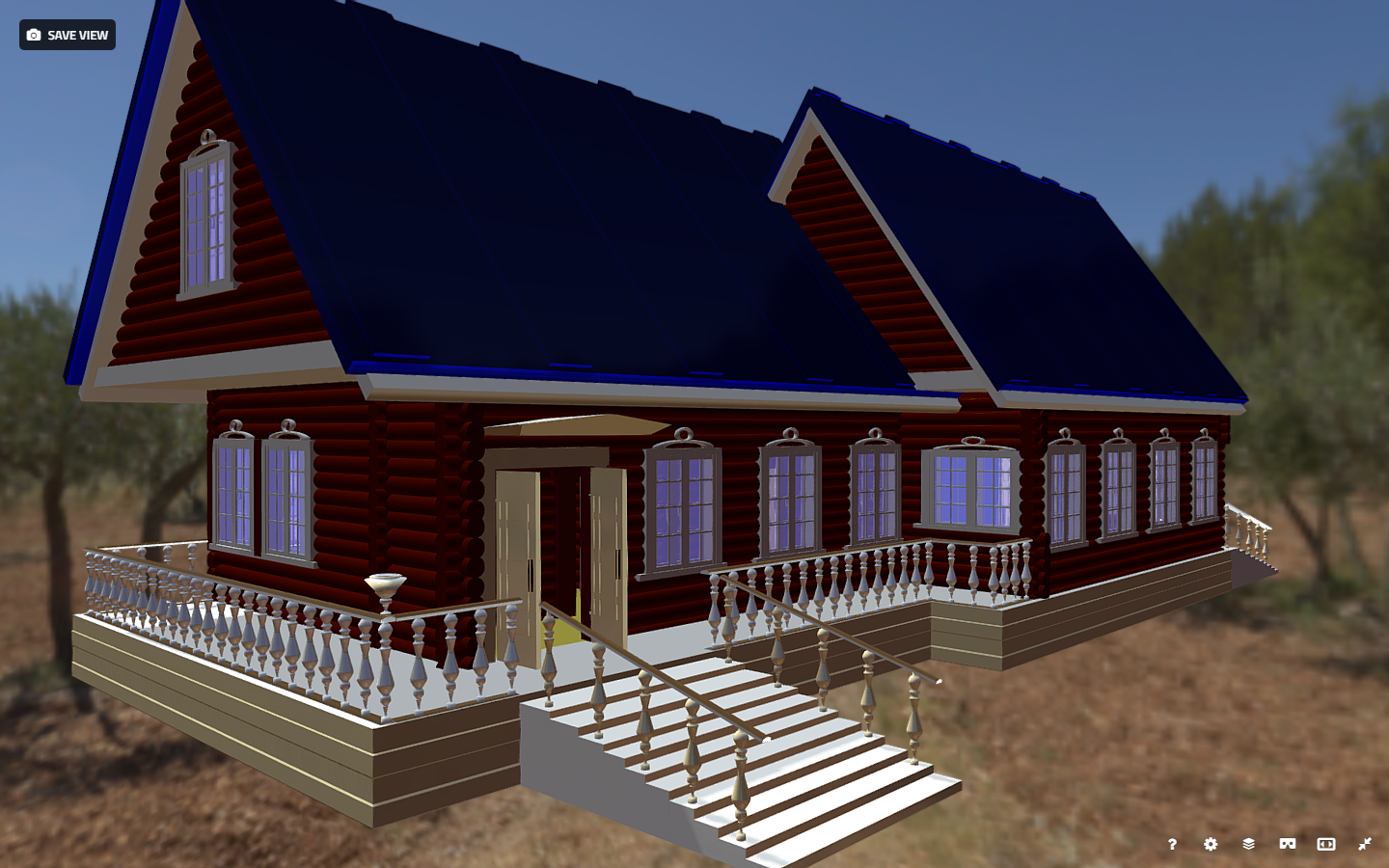 russian wooden house in siberian village 3d model fbx 269901