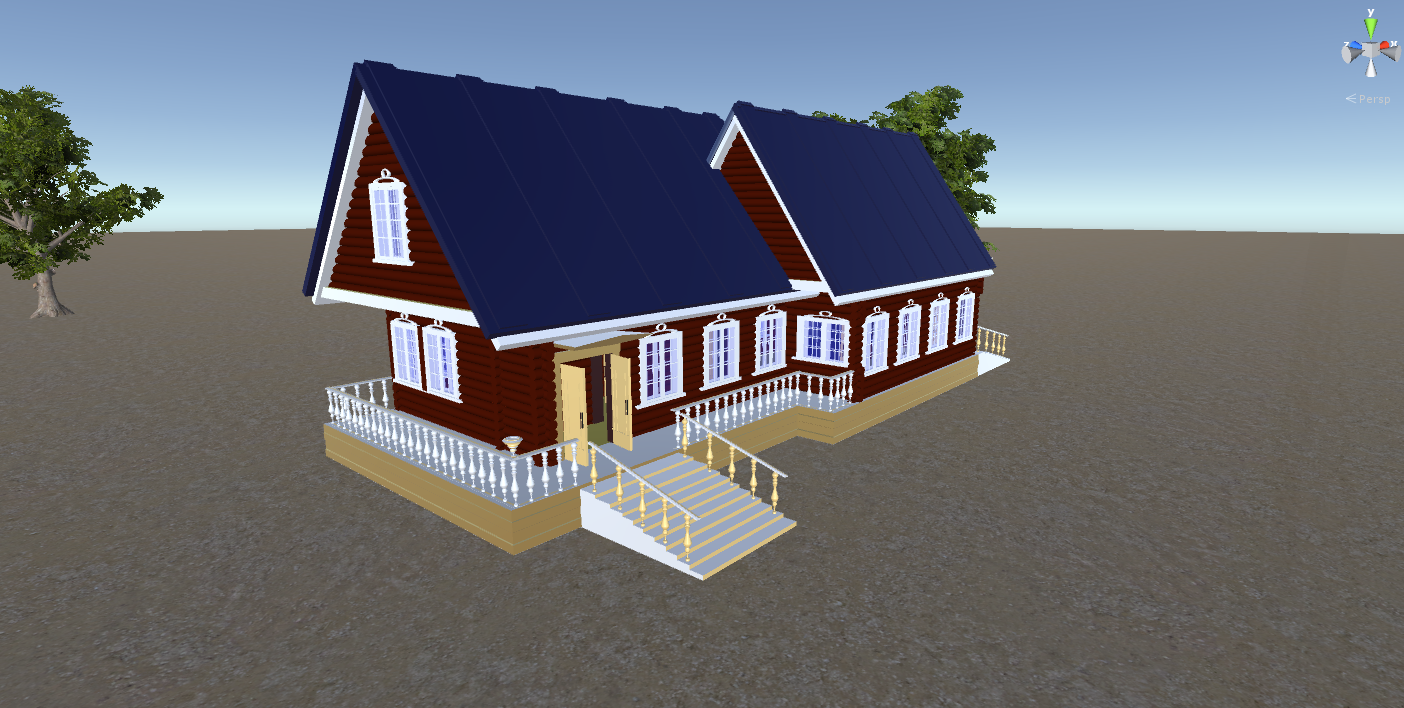 russian wooden house in siberian village 3d model fbx 269903