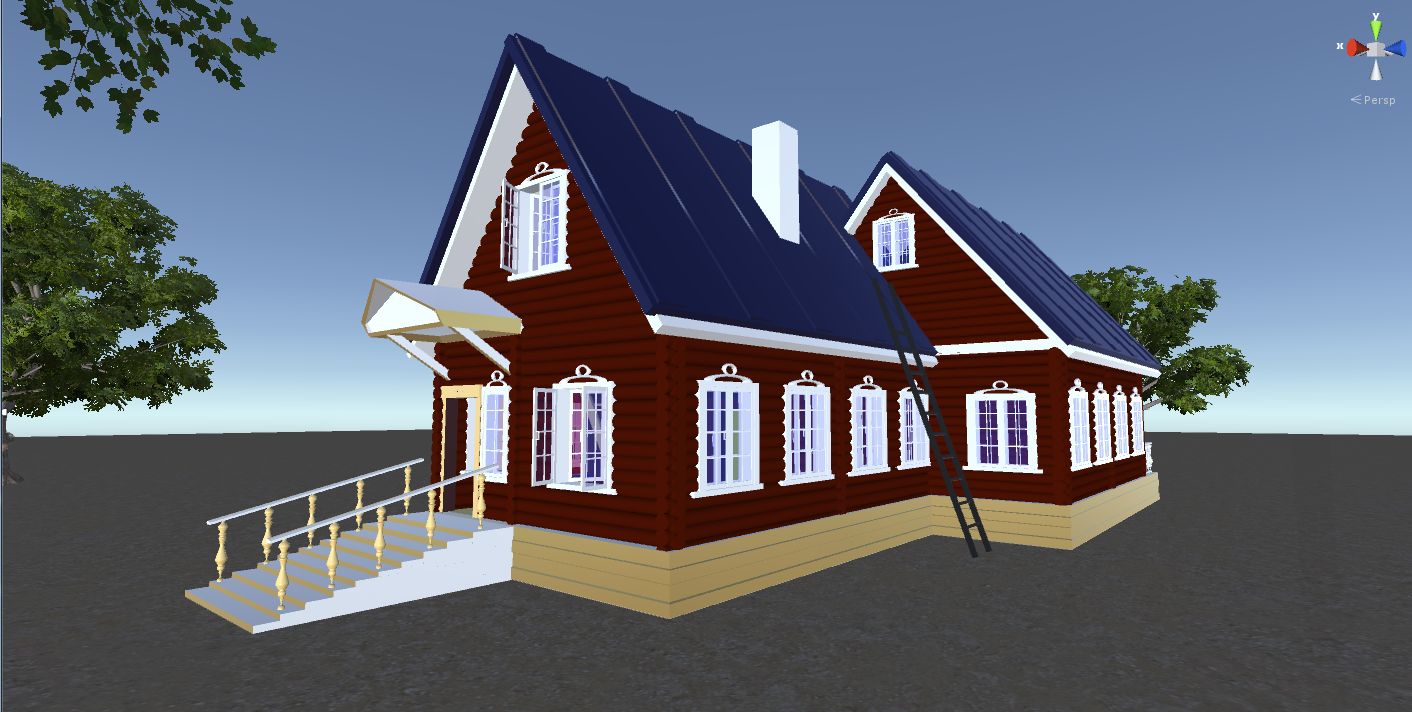 russian wooden house in siberian village 3d model fbx 269910