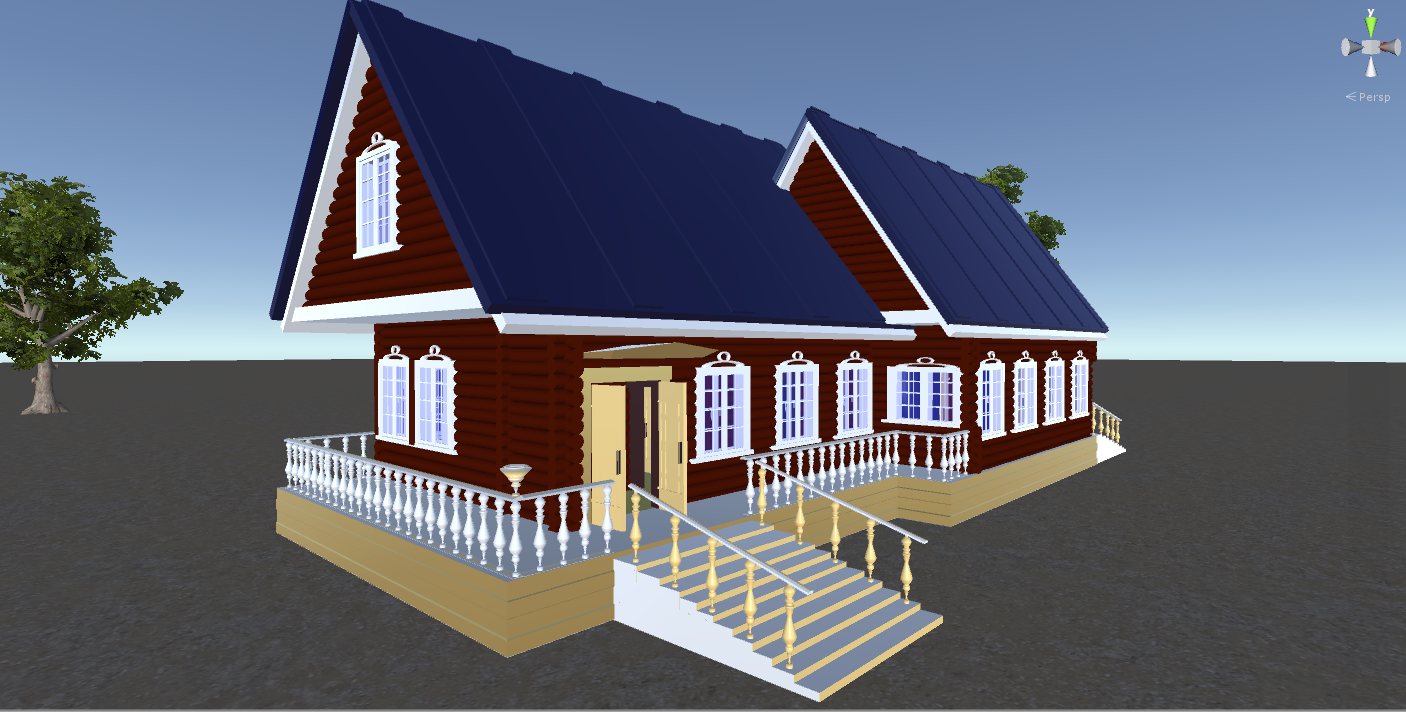 russian wooden house in siberian village 3d model fbx 269912