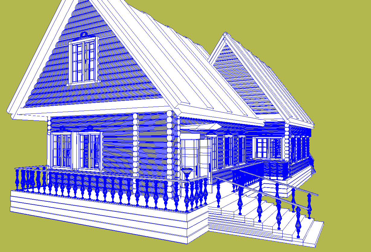 russian wooden house in siberian village 3d model fbx 269914