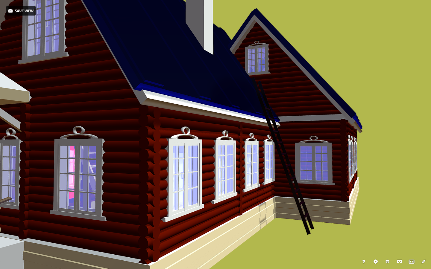 russian wooden house in siberian village 3d model fbx 269915