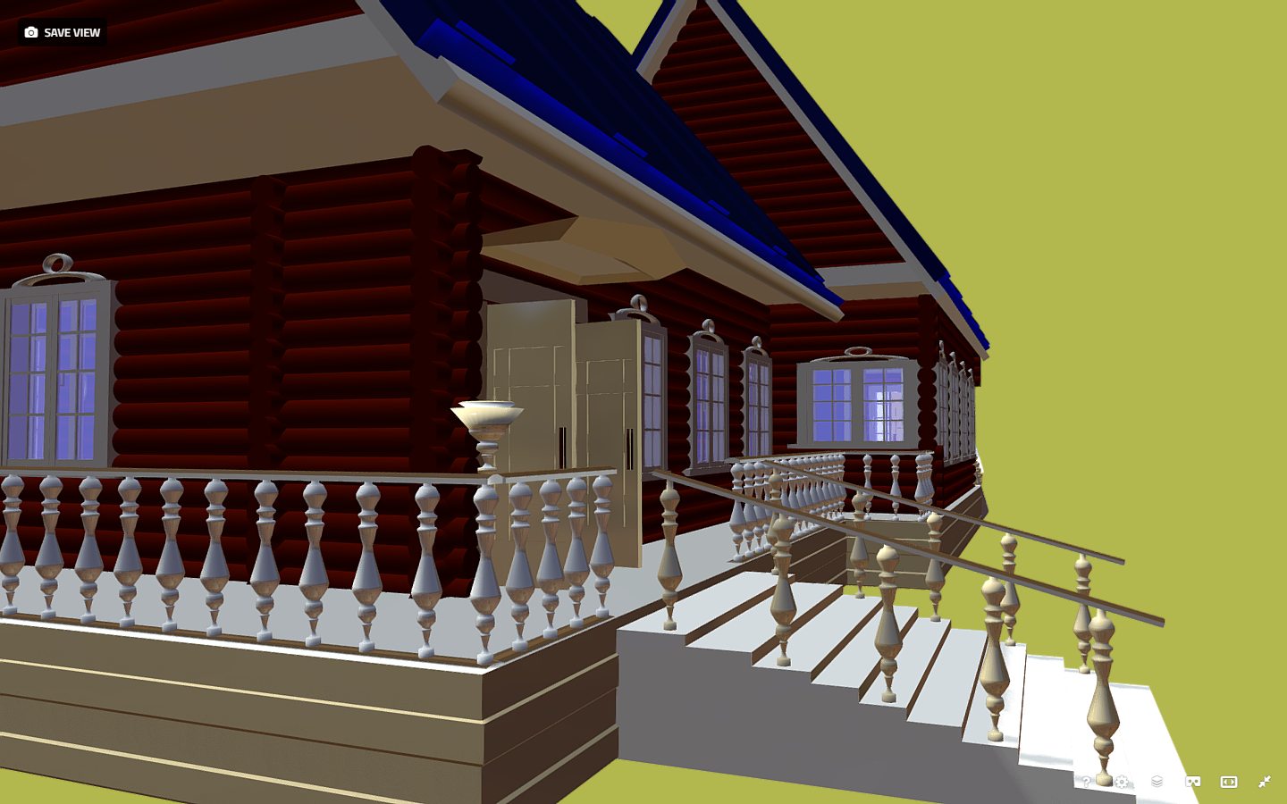 russian wooden house in siberian village 3d model fbx 269921