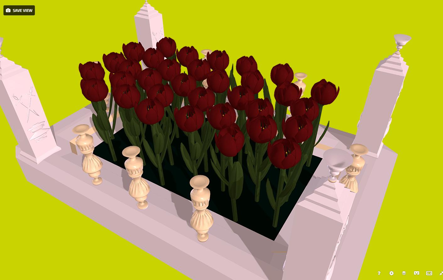 lule - tulipanët e kuq në modelin 3d të fidanishtes fbx 269932