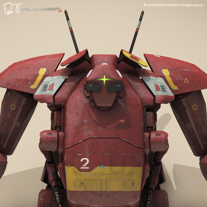 sci-fi mech 3d model 3ds dxf fbx c4d dae obj 270013