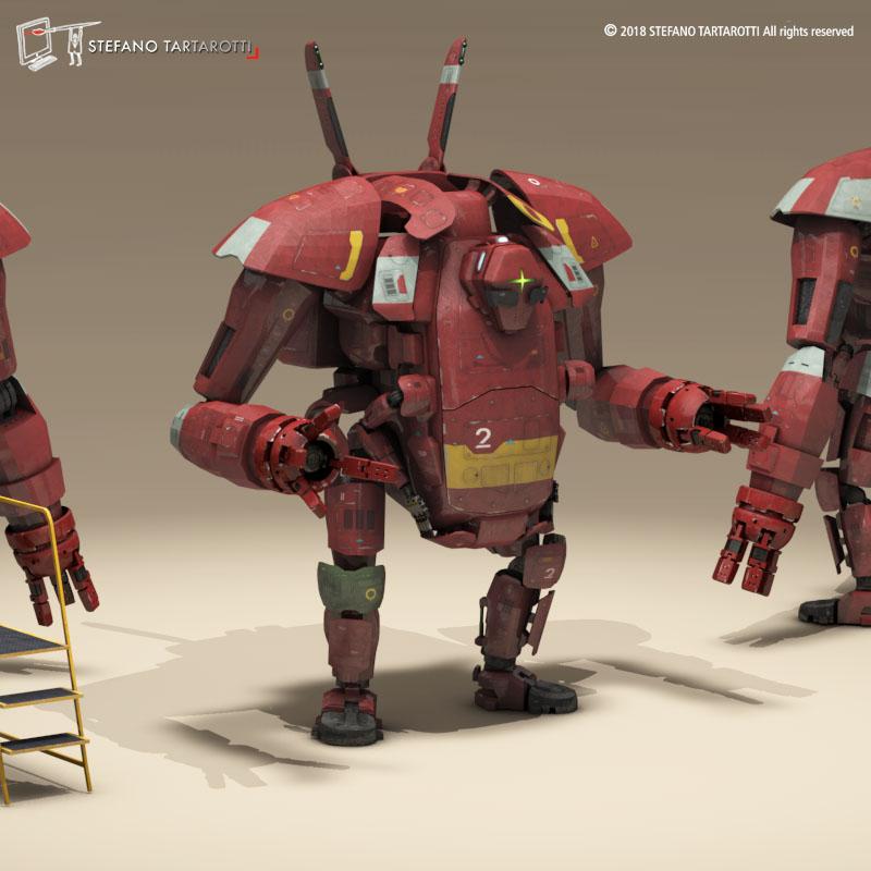 sci-fi mech 3d modelis 3ds dxf fbx c4d dae obj 270015