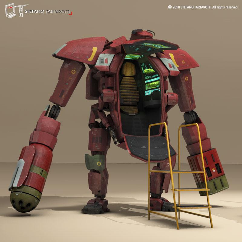 sci-fi mech 3d modelis 3ds dxf fbx c4d dae obj 270017