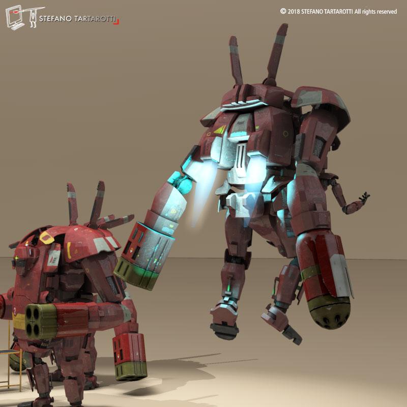 sci-fi mech 3d model 3ds dxf fbx c4d dae obj 270020