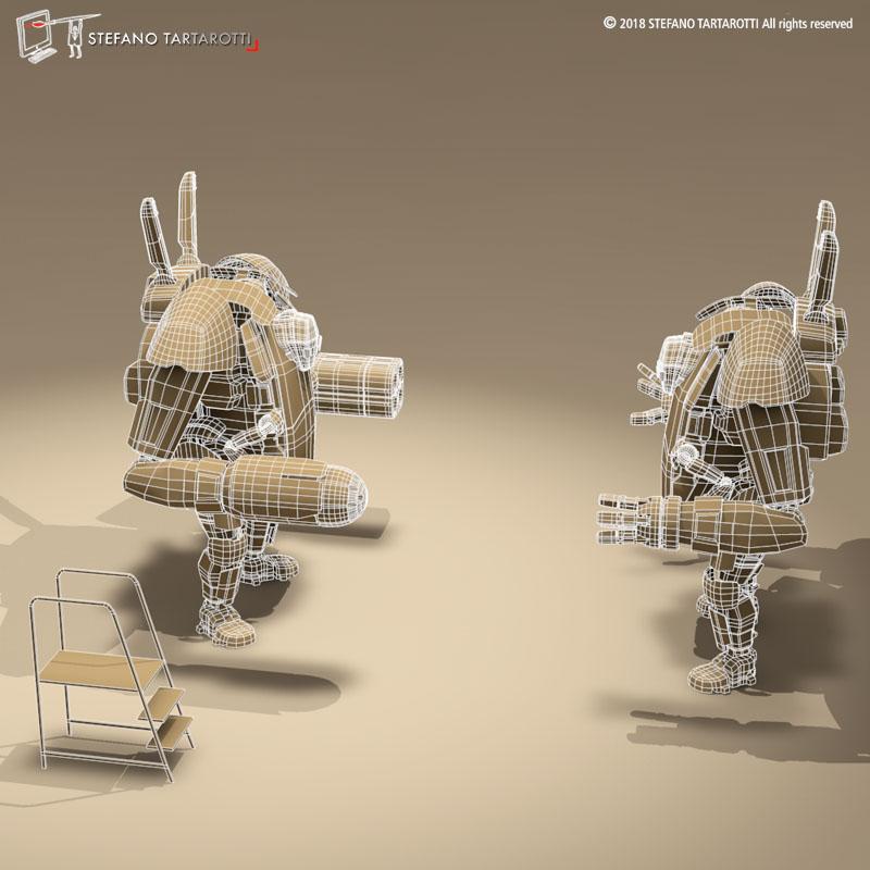 sci-fi mech 3d model 3ds dxf fbx c4d dae obj 270023