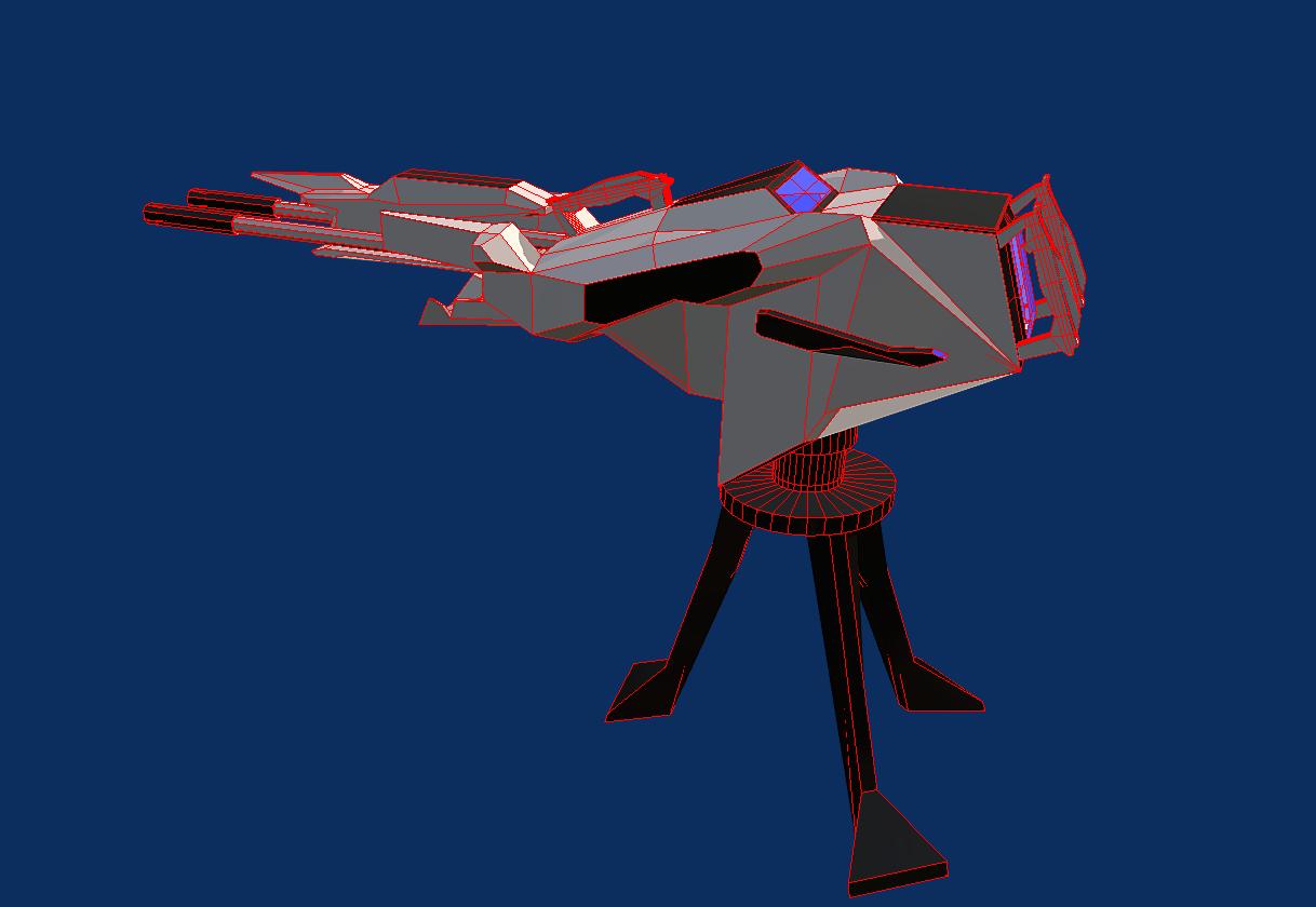 battle arctic turret-gun-fantasy weapons for games 3d model fbx 270125