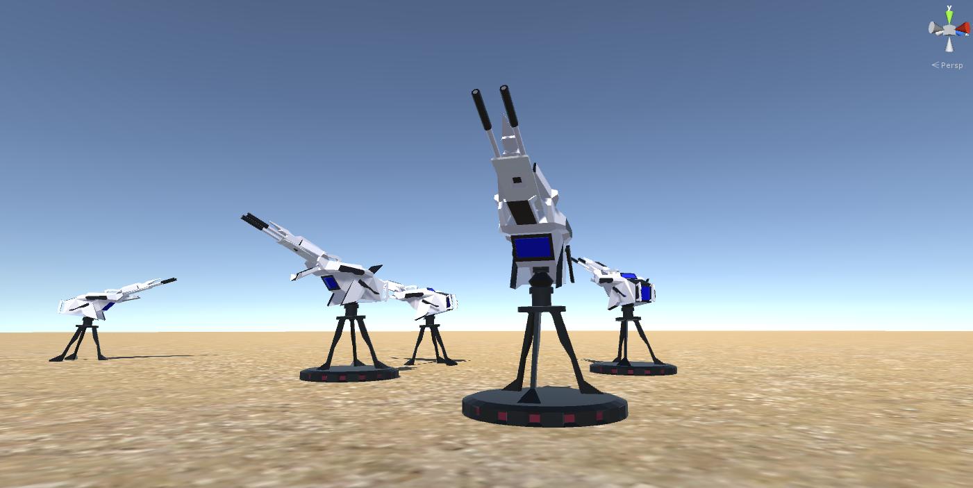 Battle Arctic Turret-Gun-Fantasy weapons for games 3d model fbx 270130