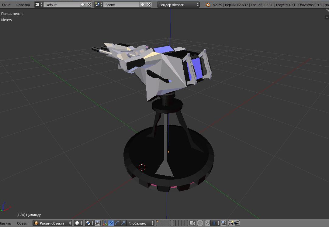 battle arctic turret-gun-fantasy weapons for games 3d model fbx 270132