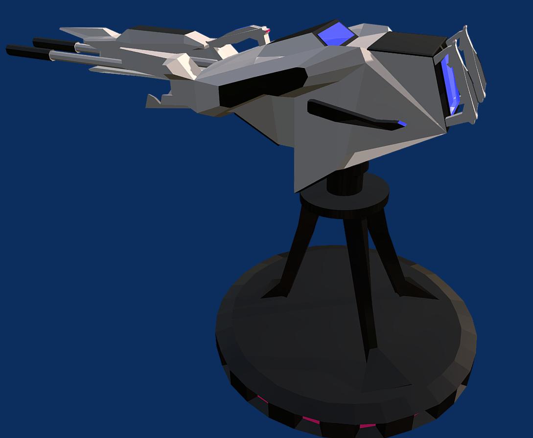 battle arctic turret-gun-fantasy weapons for games 3d model fbx 270134