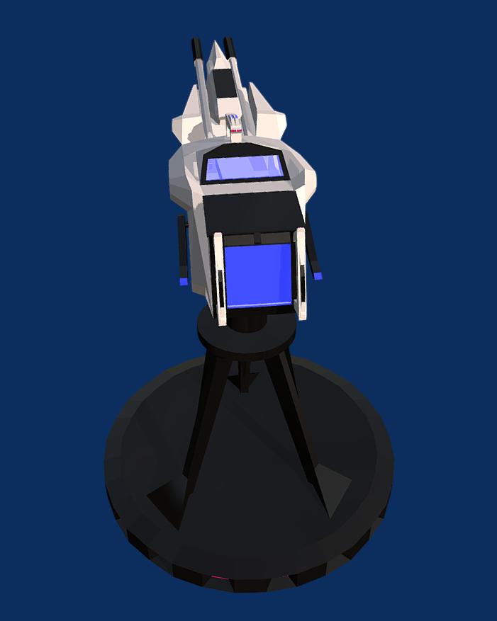 Battle Arctic Turret-Gun-Fantasy weapons for games 3d model games fbx