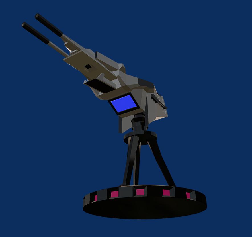 battle arctic turret-gun-fantasy weapons for games 3d model fbx 270136