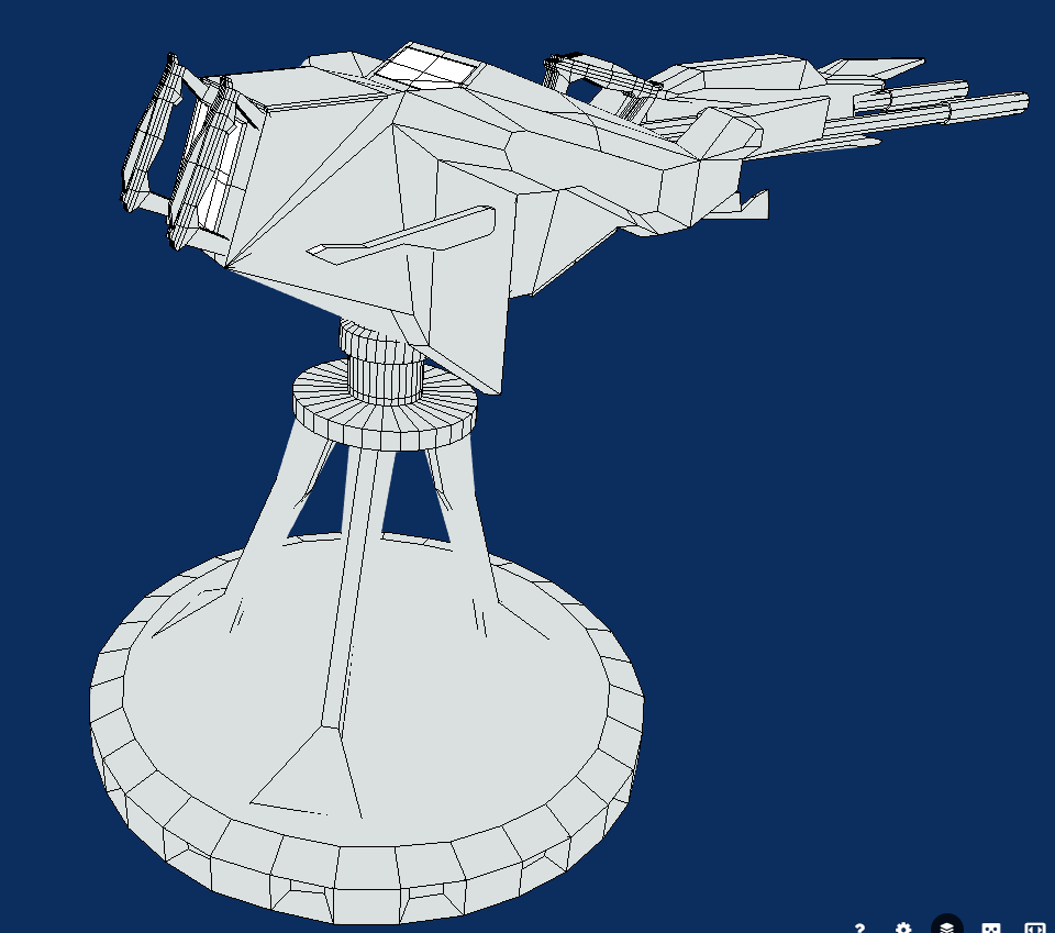 battle arctic turret-gun-fantasy weapons for games 3d model fbx 270137