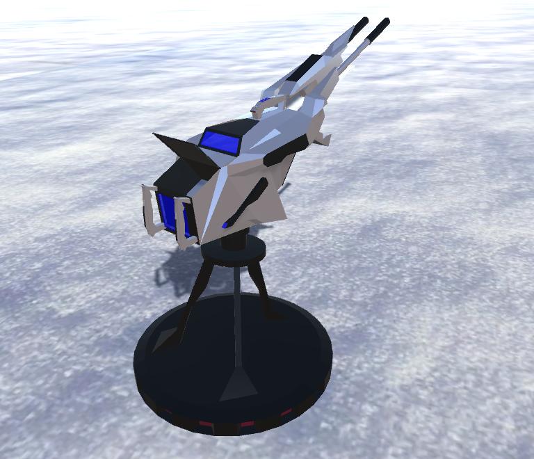 battle arctic turret-gun-fantasy weapons for games 3d model fbx 270168