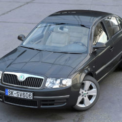 Skoda Superb 2006 3d model  3ds max fbx c4d obj