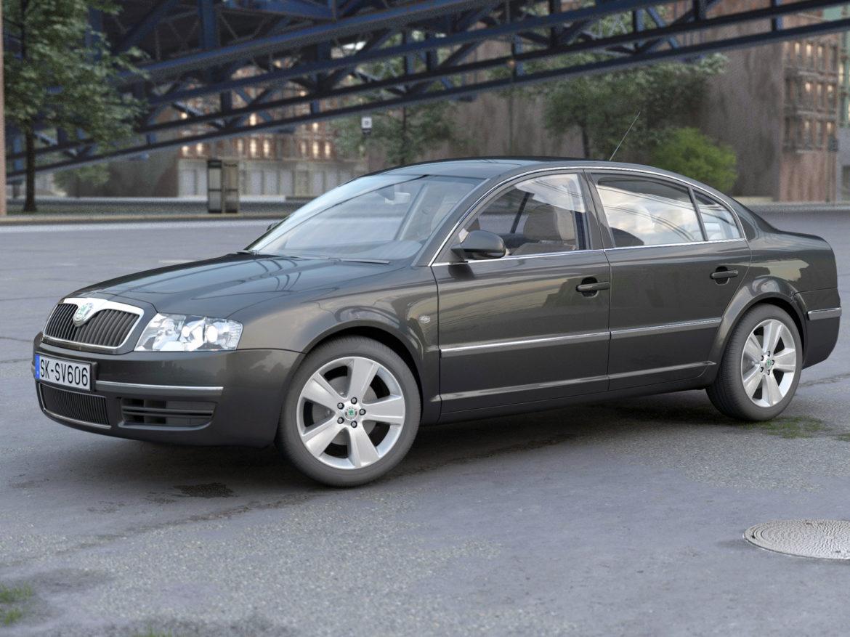 Skoda Superb 2006 3d model 0