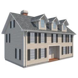 Family House_1 3d model low poly