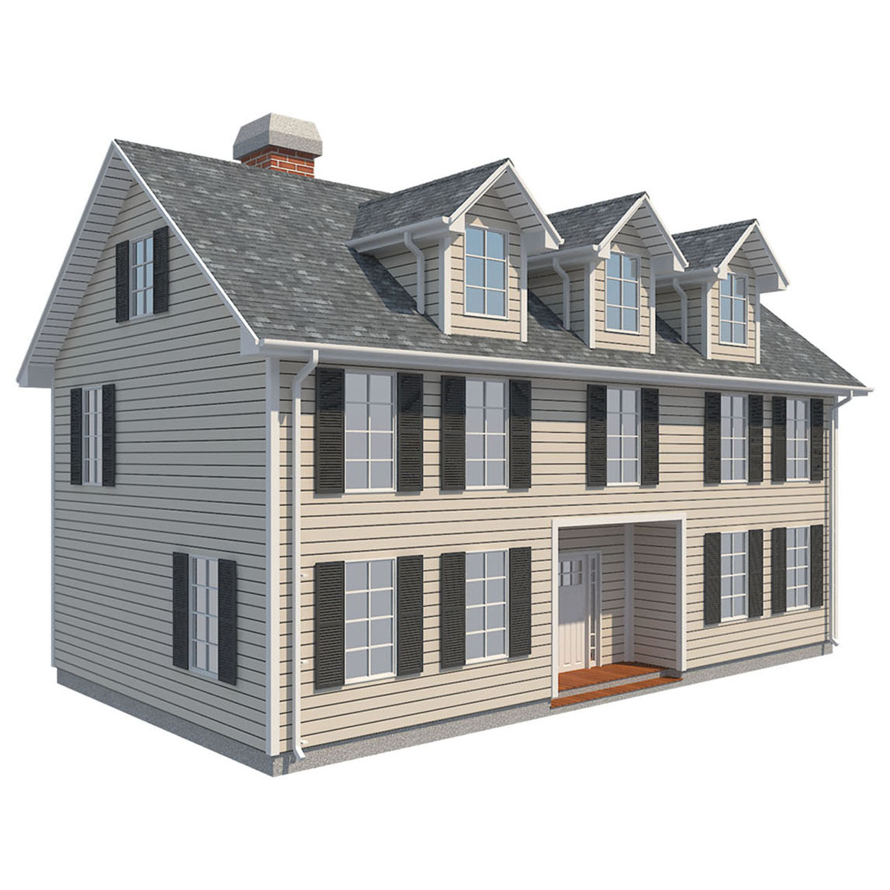 family house set collection 3d model 3ds max  fbx obj 270236