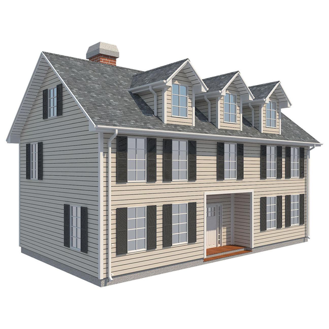 гэр бүлийн байшин багц цуглуулах 3d загвар 3ds max fbx obj 270236