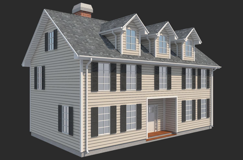 family house set collection 3d model 3ds max  fbx obj 270237