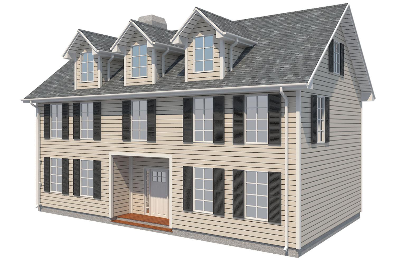 family house set collection 3d model 3ds max  fbx obj 270238